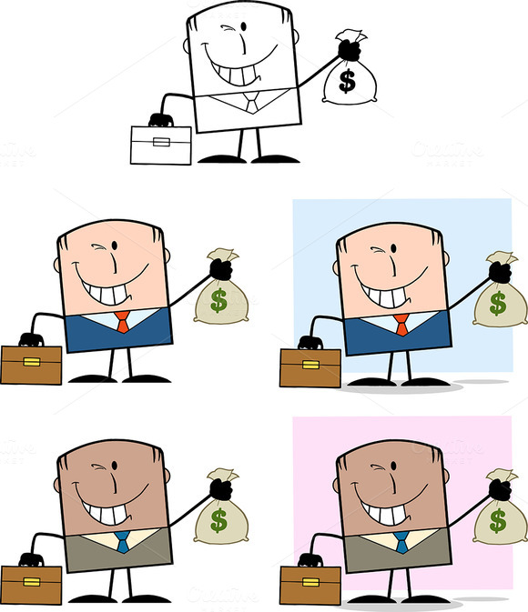Happy Businessman Collection 4
