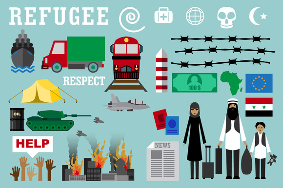 Refugee. War victims concept - Objects