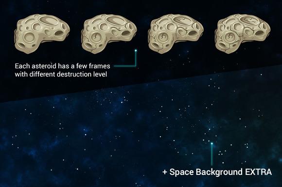 Vector Asteroids Sprites Bonus