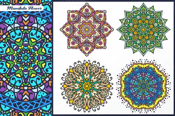 Abstract Flower And Mandala Set 3