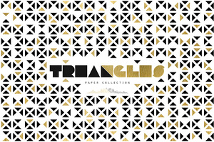 Gold Triangles Seamless Patterns