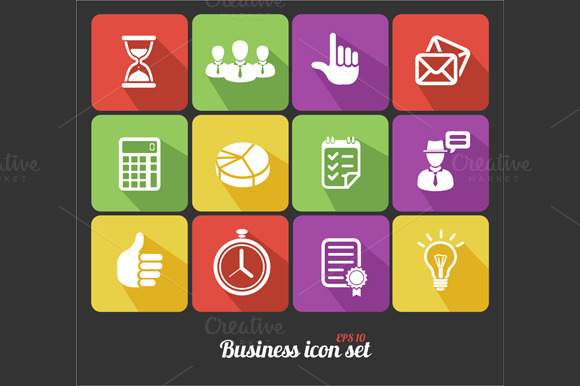 Office and Business Icons Set.Vector - Icons