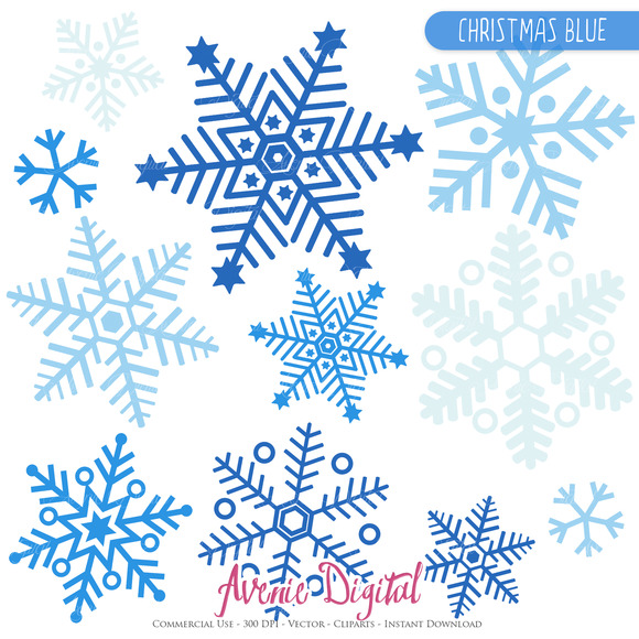 Blue Snowflake Clipart And Vectros