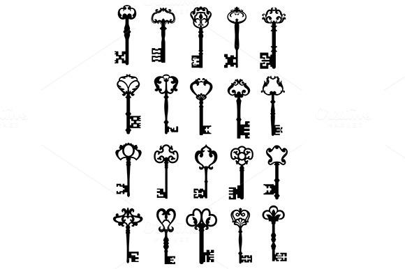 Set Of Antique Keys