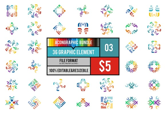 36 Graphic Element Bundle #3
