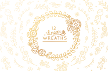 12 Linear Wreaths