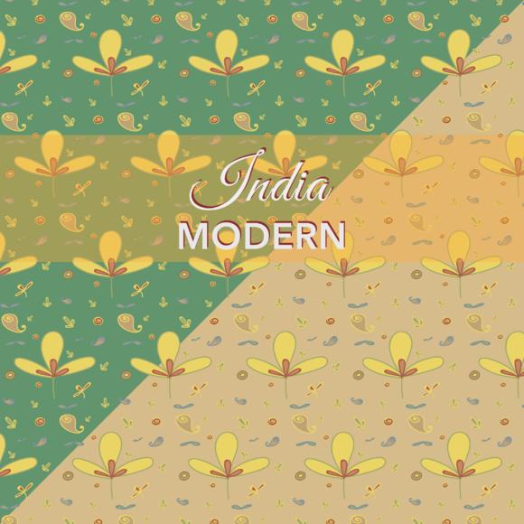 India Modern Pattern Set Of 2