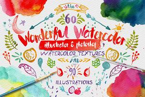 Wonderful Watercolor Design Pack