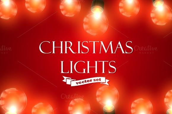 Christmas Lights. Holiday Vector Set - Illustrations