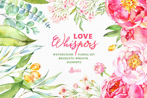 Love Whispers. Floral Collection