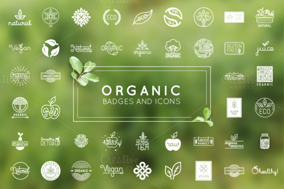 Organic Natural And Vegan Badges