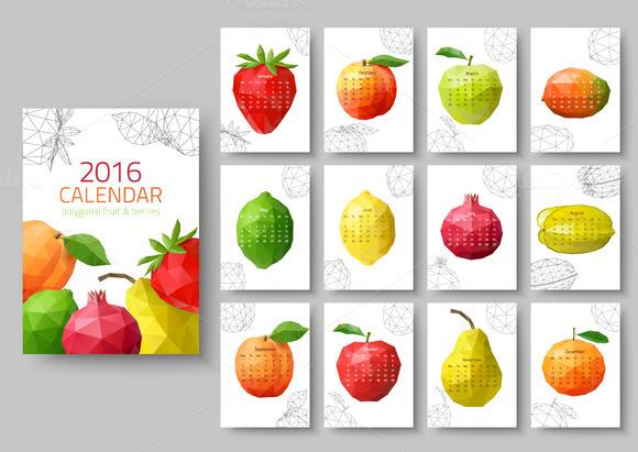 Geometrical Calendars Of 2016