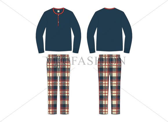 Men Loungewear Pajama Set