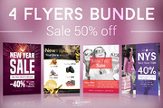 New Year Sale Flyers Bundle-Graphicriver中文最全的素材分享平台