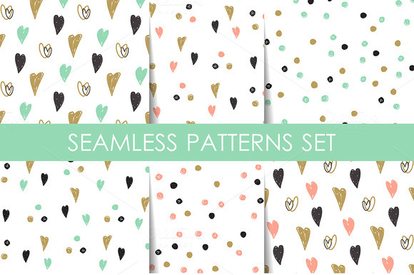 6 Retro Seamless Patterns Set
