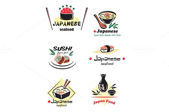 Colored Japanese Seafood Set
