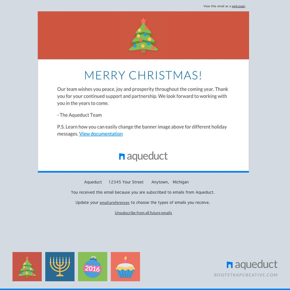 mailchim templates - holiday email template mailchimp email templates on