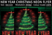 New Year Christmas Neon Par-Graphicriver中文最全的素材分享平台