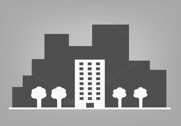 Building And Trees In A Big City