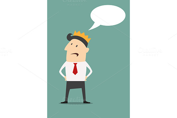 Businessman With Golden Crown And Sp
