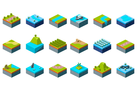 Set Of Part Of The Map Isometric
