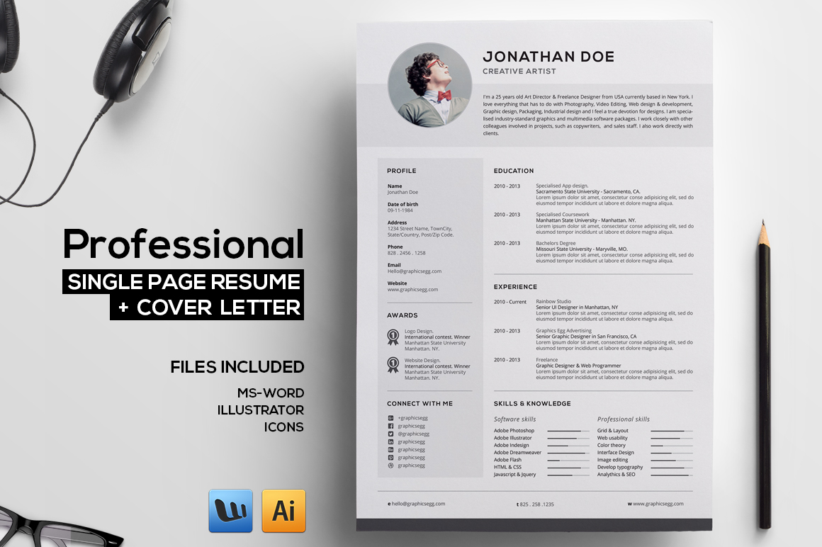 professional-resume-v4-1-o Open Single Letter Templates on sample business, basic cover, sample resignation, sample request,