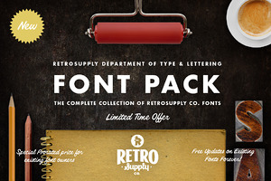 [SAVE 63%] RetroSupply Font Pack