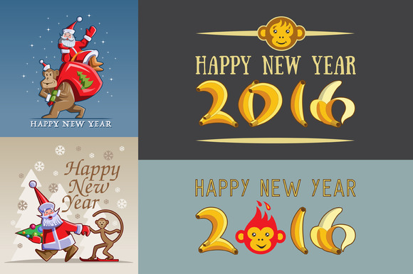 Chinese New Year 2016 Illustration