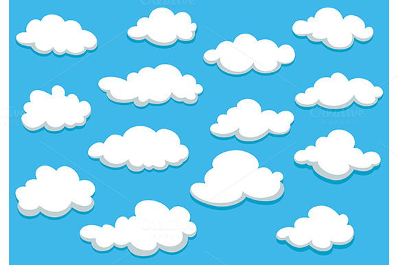 Cartooned Clouds Background