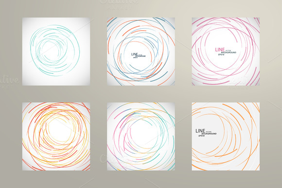 Vector Abstract Line Circle Design
