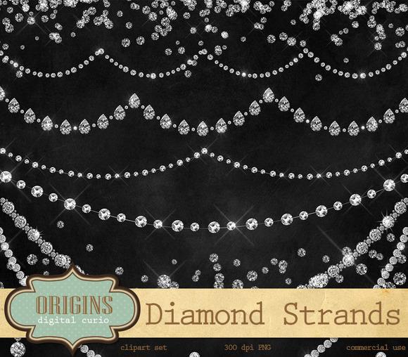 Diamond Strands Clipart