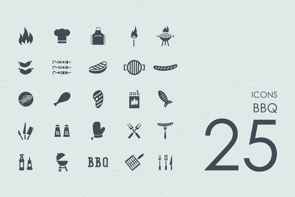 25 BBQ Icons
