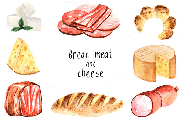 Bread Meat And Cheese