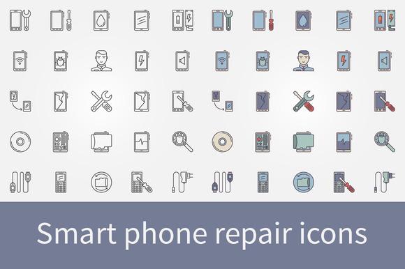 Smart Phone Repair Icons