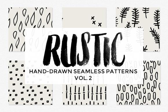 Rustic Hand-Drawn Patterns Vol 2