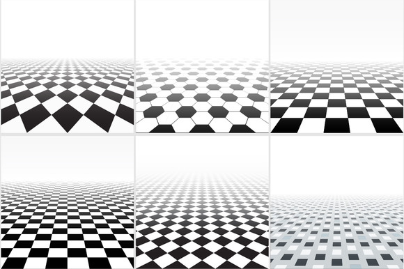 Abstract Backgrounds Tiled Floor