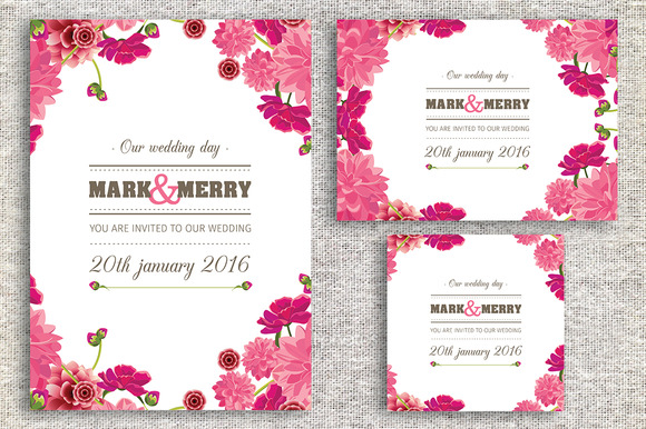 invitation card template, Wedding invitation