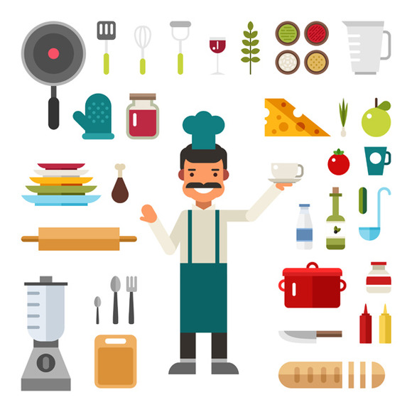 Kitchen Appliances And Food