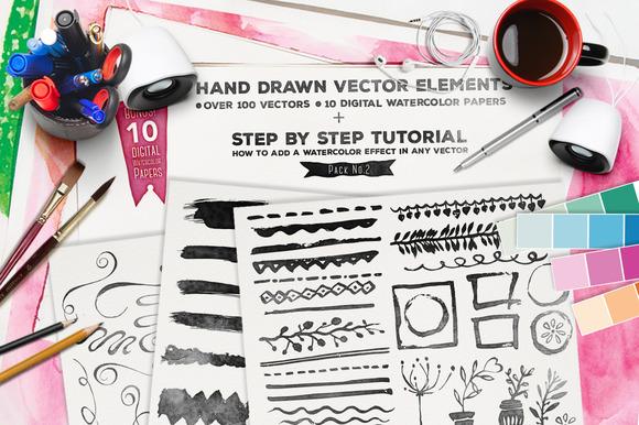 Hand Drawn Vector Elements Vol.2 - Illustrations
