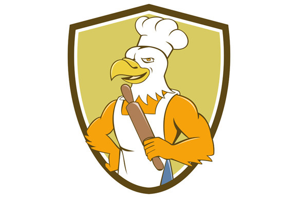 Bald Eagle Baker Chef Rolling Pin Cr