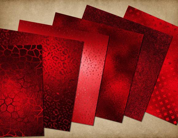 Scarlet Red Glam Foil Backgrounds