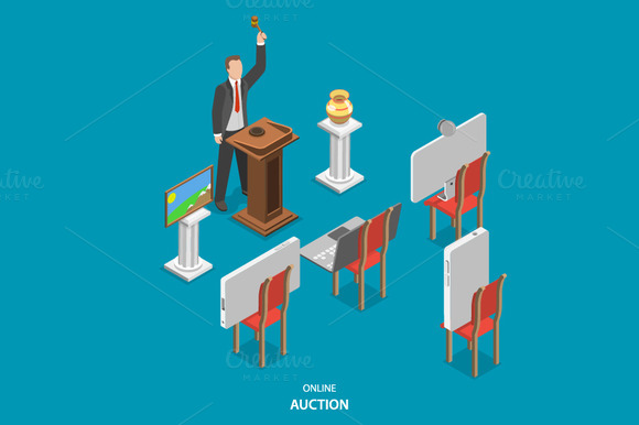 Online Auction Isometric Concept