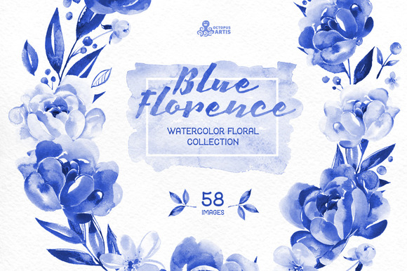 Blue Florence. Floral Collection - Illustrations