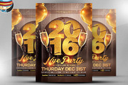 Glamorous NYE Party Flyer T-Graphicriver中文最全的素材分享平台