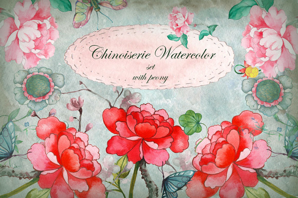 Chinoiserie Watercolor Set Part I
