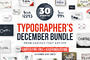 Typographer's December Dream Bundle - Script - 2