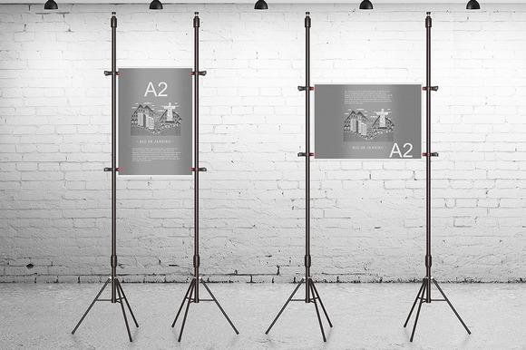 A2 Poster Mockup V H
