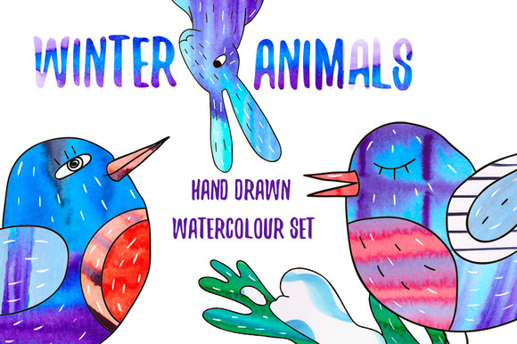 Winter Animals Set