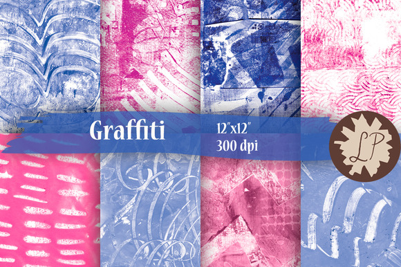 Bright Graffiti Painted Papers