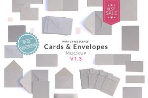 Cards & Envelopes Mockup